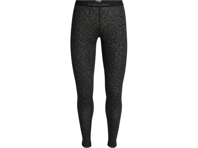 Icebreaker 200 Oasis Sky Paths Leggings Damer, black